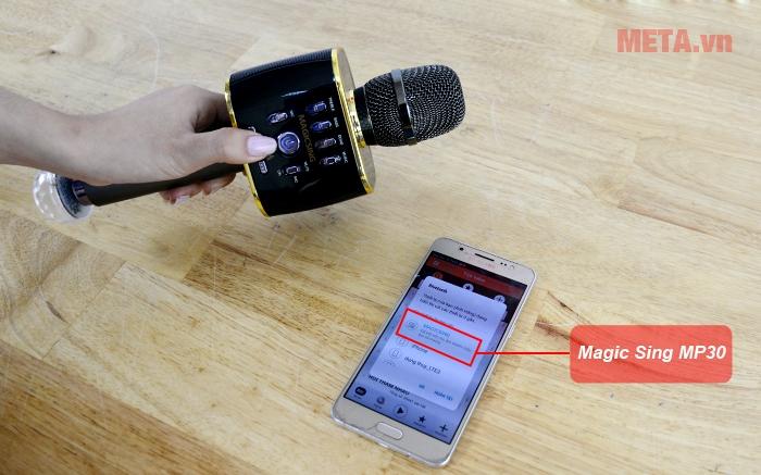 Micro Magic Sing MP-30 có khả năng kết nối bluetooth