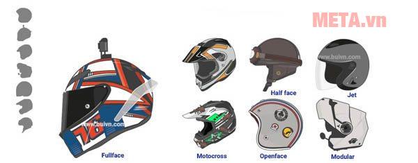 Phân loại mũ bảo hiểm