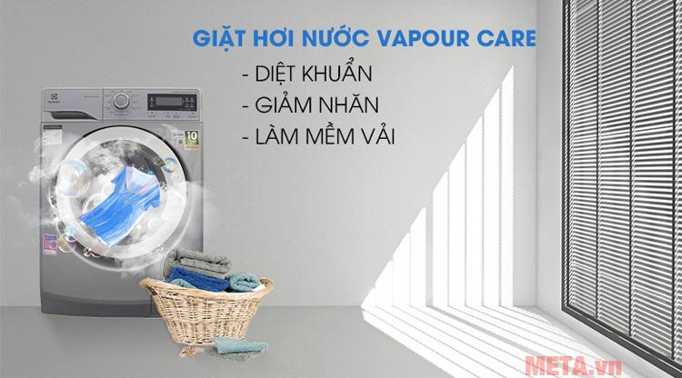 Máy giặt 9kg công nghệ hơi nước Electrolux EWF12938S