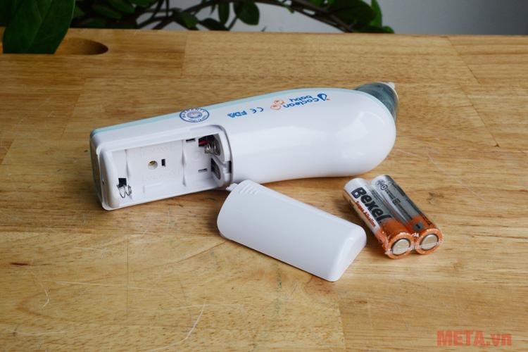 Sử dụng pin 2AA dễ dàng thay thế