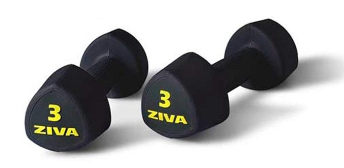 Tạ tay Ziva ZSL-RBST-2712 với chất liệu cao su không trơn trượt