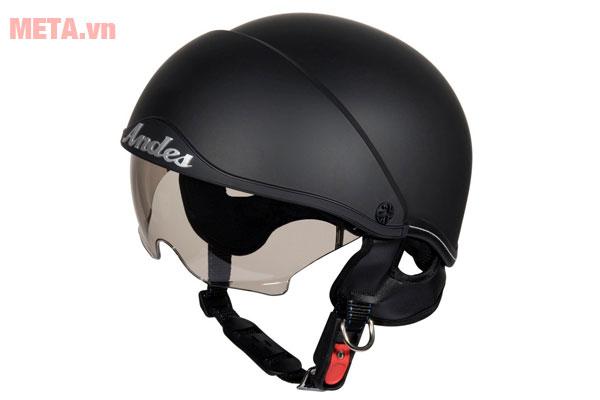 Mũ bảo hiểm Andes trơn nhám có kính 3S - 139 (AS - 139)