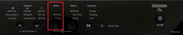 Hướng dẫn chi tiết cách dùng máy sấy quần áo Electrolux EDS7552