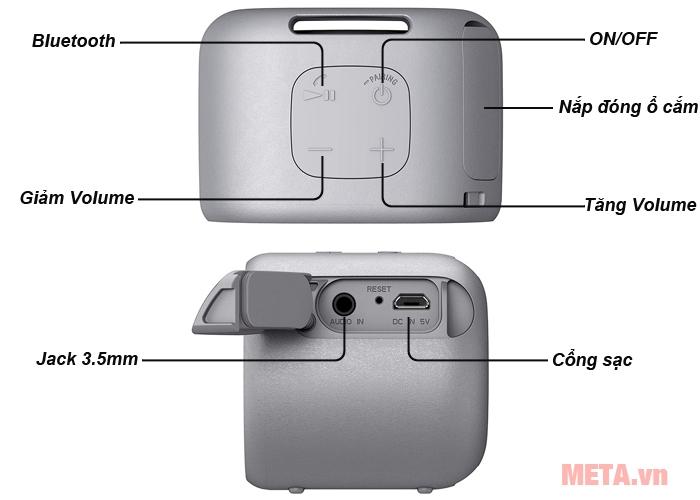 Cấu tạo và các chức năng loa bluetooth Sony ExtraBass XB01