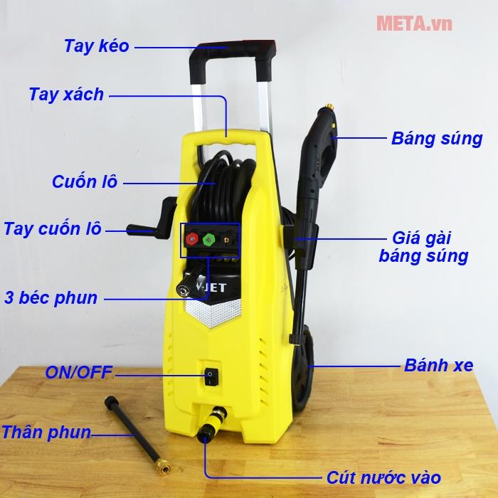 Cấu tạo máy rửa xe V-JET VJ 120