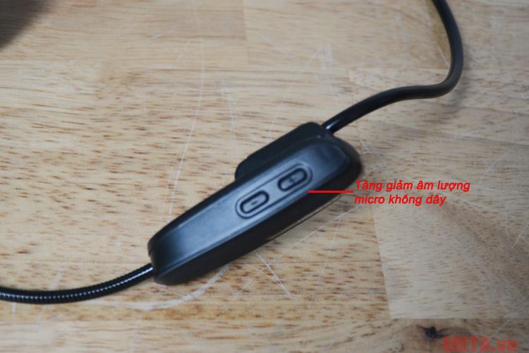 Nút tăng giảm âm lượng trên micro không dây