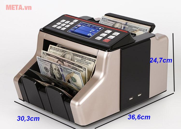 Kích thước máy đếm tiền