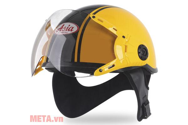 Mũ bảo hiểm nửa đầu MT-114KC màu vàng