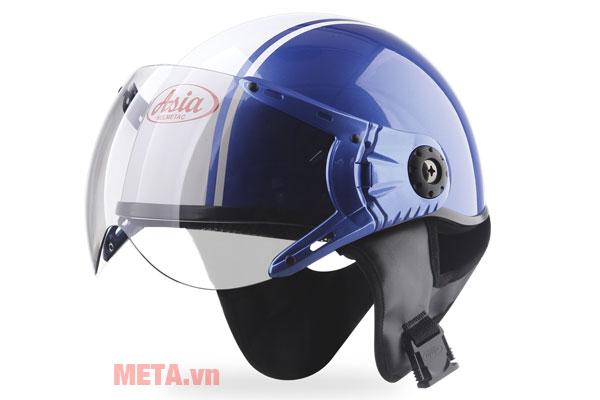 Mũ bảo hiểm nửa đầu MT-114KC màu xanh