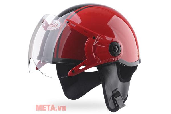 Mũ bảo hiểm nửa đầu MT-114KC màu đỏ