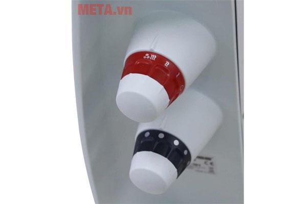 Nút điều chỉnh công suất và nhiệt độ dễ sử dụng