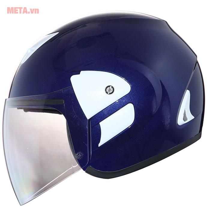 Mũ bảo hiểm màu xanh mực