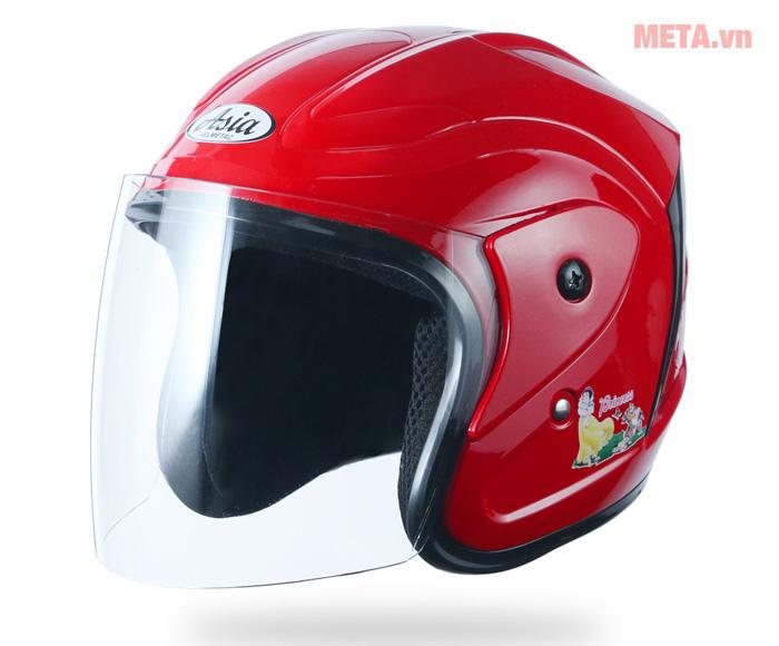 Nón bảo hiểm trẻ em 3/4 đầu Asia MT-122 màu đỏ