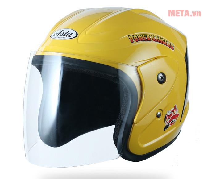 Nón bảo hiểm trẻ em 3/4 đầu Asia MT-122 màu vàng