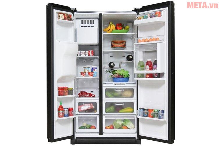 Tủ lạnh Side by Side chứa được lượng lớn thực phẩm