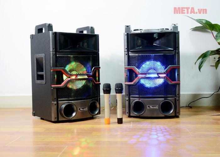 Loa Microtek MTK-04 được trang bị 2 mic không dây