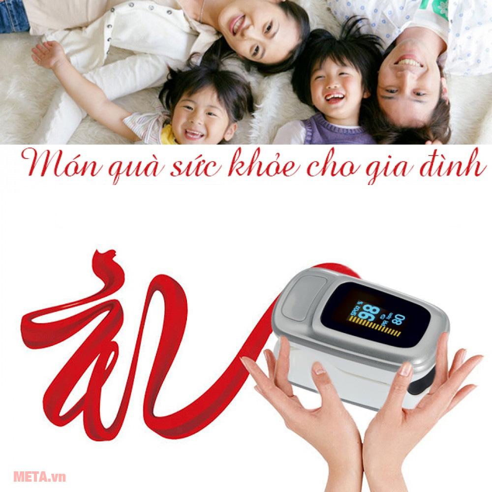 Máy đo nồng độ Oxy và nhịp tim