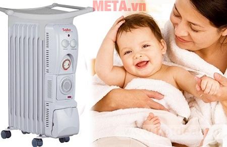 Máy sưởi dầu có dùng được cho trẻ sơ sinh không?
