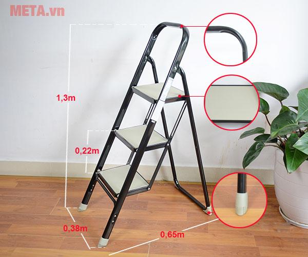 Kích thước của thang ghế