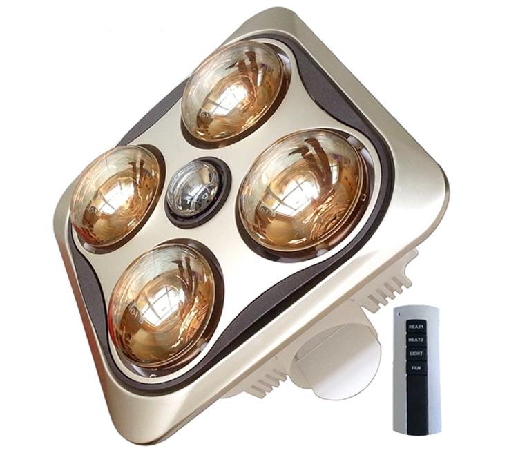 Đèn sưởi nhà tắm 4 bóng cao cấp Moletty M-04HR