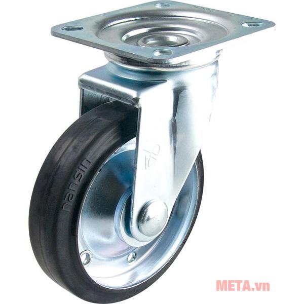 Hình ảnh bánh xe đẩy cao su xoay