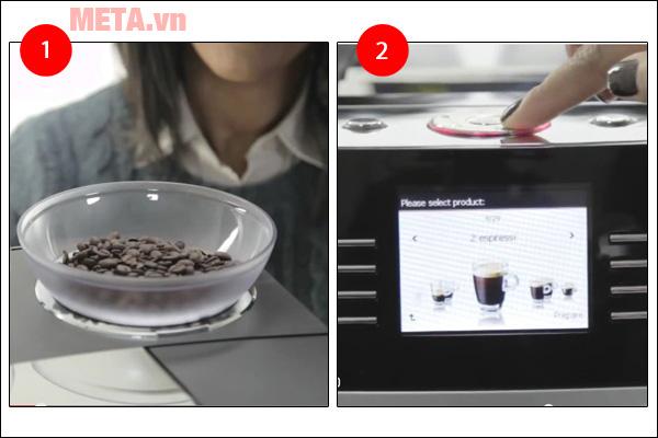 Các bước máy pha cà phê tự động