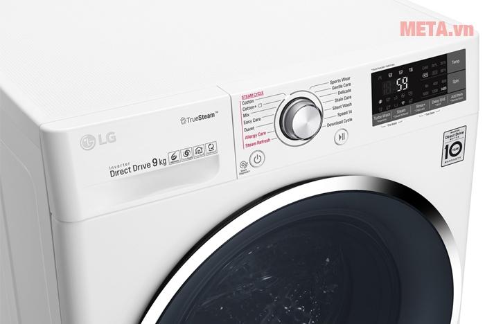 Bảng điều khiển máy giặt LG 9kg FC1409S2W