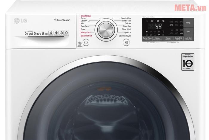 Máy giặt LG 9kg FC1409S2W có chế độ giặt nước nóng
