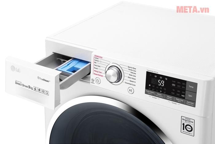 Máy giặt LG 9kg FC1409S2W có tốc độ quay vắt 1400 vòng/phút