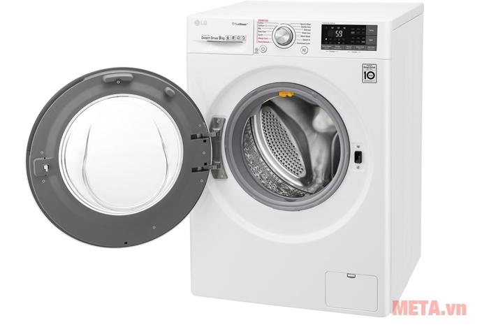 Máy giặt LG 9kg FC1409S2W có màu trắng trang nhã