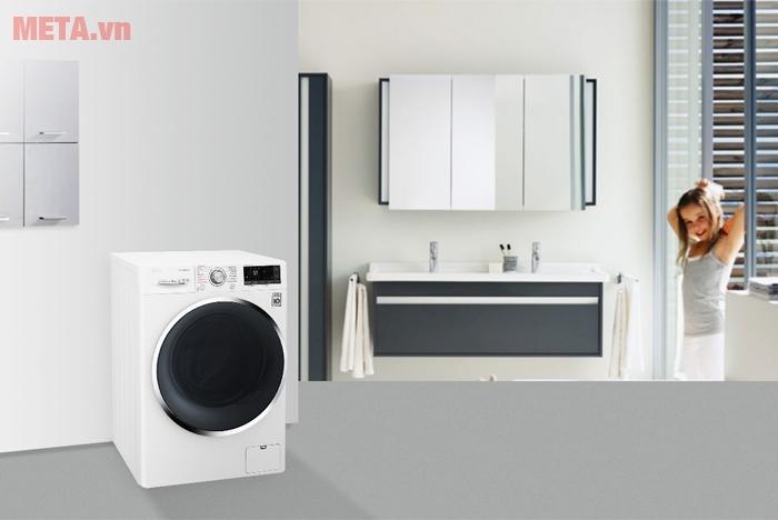 Máy giặt LG 9kg FC1409S2W kích thước nhỏ gọn