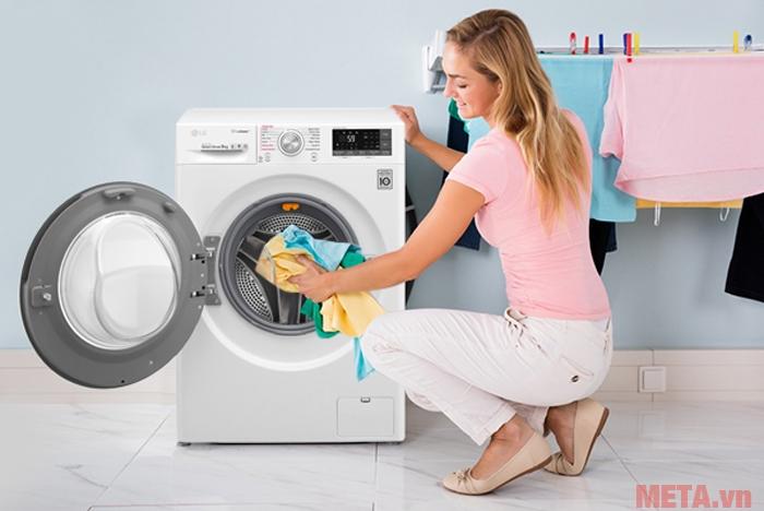 Máy giặt LG FC1409S2W có khối lượng giặt 9kg