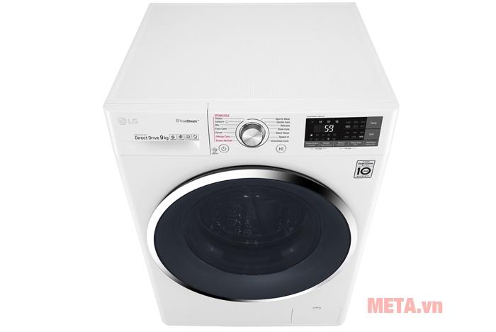 Máy giặt LG 9kg FC1409S2W dễ dàng cho thêm đồ giặt trong lúc máy đang vận hành