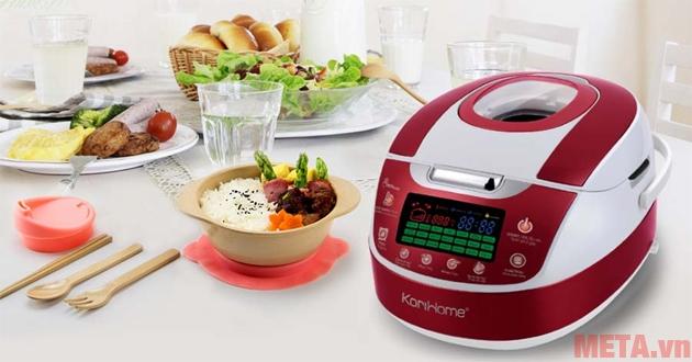 Nấu cơm bằng nồi cơm điện tử ngon hơn