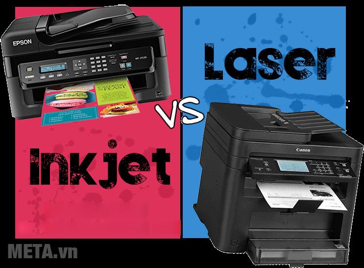 Nên mua máy in phun hay máy in laser?
