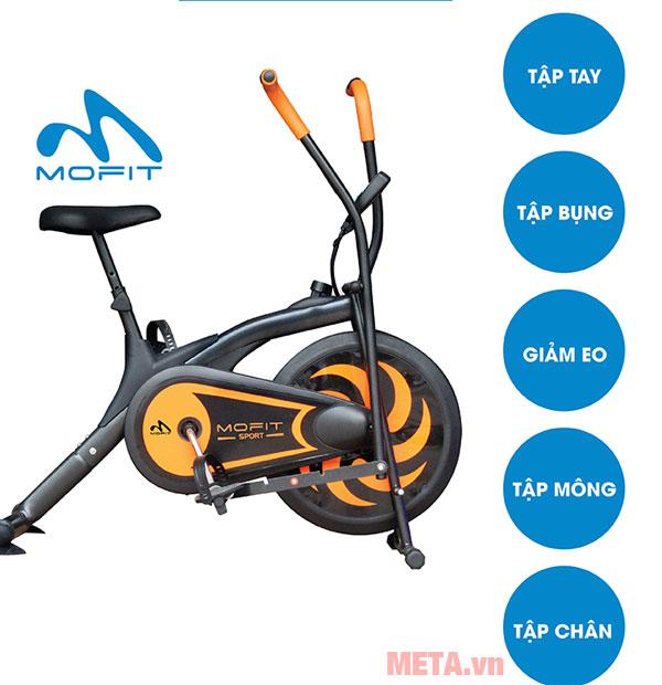 Xe sẽ giúp bạn luyện tập nhiều vùng trên cơ thể