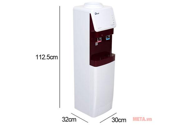 Kích thước cây nước nóng lạnh FujiE WD-1500U-KR-Red