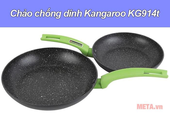 Bộ 2 chảo đáy từ Kangaroo KG914 được phủ lớp chống dính cao cấp