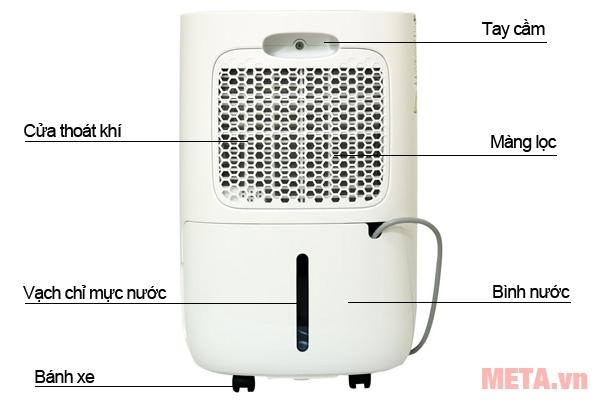 Cấu tạo máy hút ẩm dân dụng FujiE HM-912EC-N