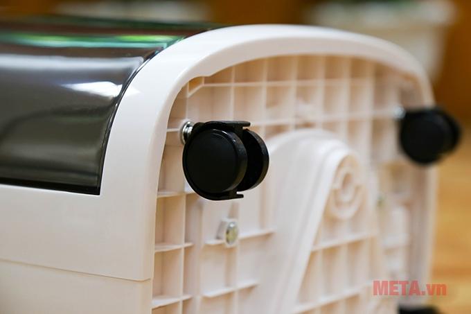 Máy hút ẩm dân dụng FujiE HM-918EC có bánh xe dễ dàng di chuyển