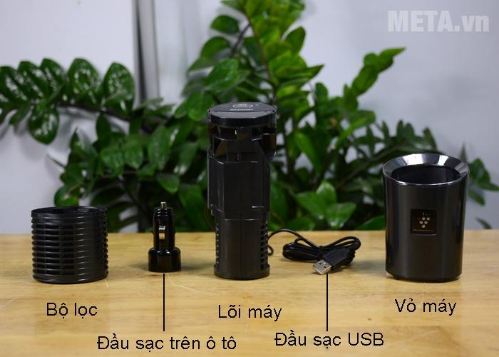 Các bộ phận chi tiết của máy lọc khí ô tô Sharp IG-GC2E-B/P/N