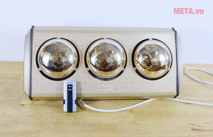 Đèn sưởi nhà tắm 3 bóng Moletty M-03HR