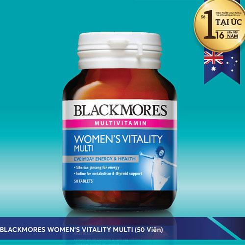 Blackmores Women's Vitality Multi bổ sung các dưỡng chất cho nữ giới