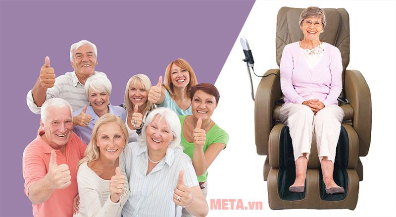 Có nên dùng ghế massage cho người lớn tuổi?