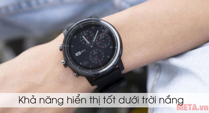 Đồng hồ có khả năng hiển thị tốt dưới trời nắng