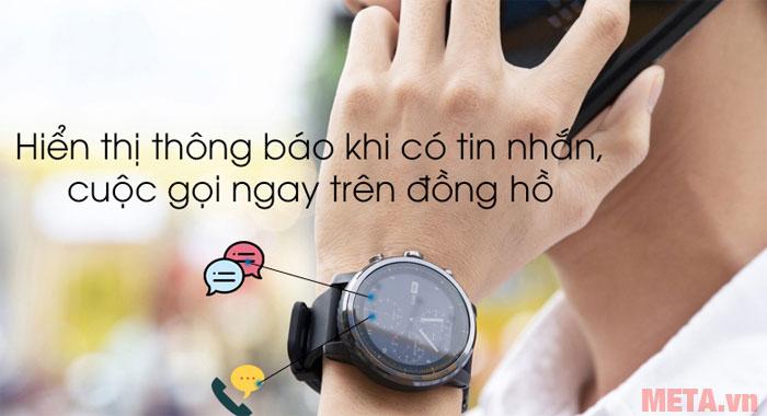 Đồng hồ có khả năng nhận thông báo cuộc gọi và tin nhắn