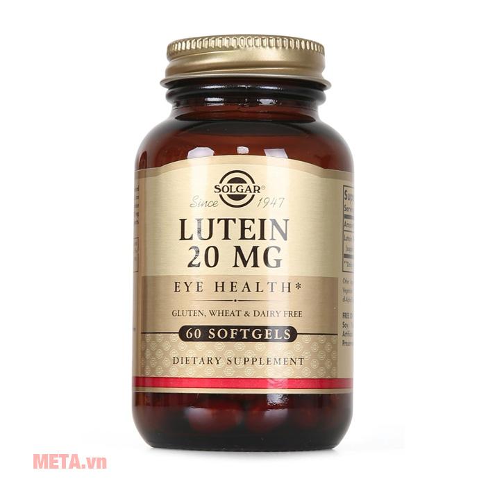 Thực phẩm bảo vệ sức khỏe Lutein 20 MG Solgar (60 viên)