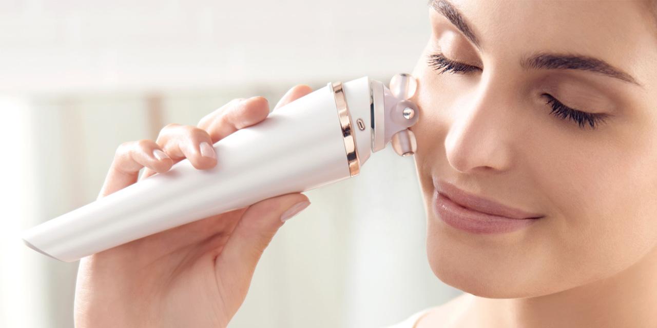 Massage nâng cơ mặt hiệu quả bằng Máy massage mặt