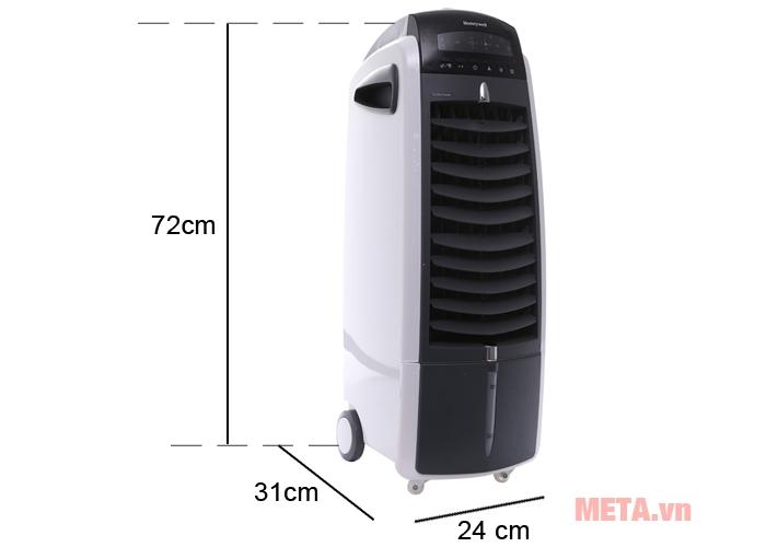 Kích thước quạt làm mát Honeywell ES800