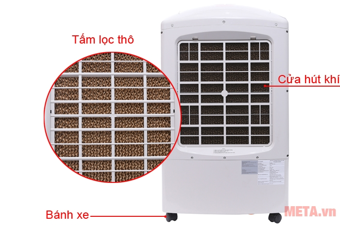 Tấm lọc giúp làm mát hiệu quả, cho không khí trong lành hơn